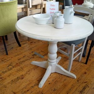 Clearance Round White Table