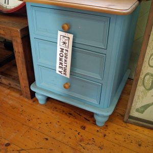 Clearance Victorian Bedside Stone Blue