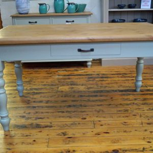 Farmhouse Table with Drawer French Grey